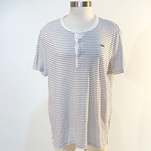 LACOSTE Horizontal Stripe 3/4 Button-up Shirt M